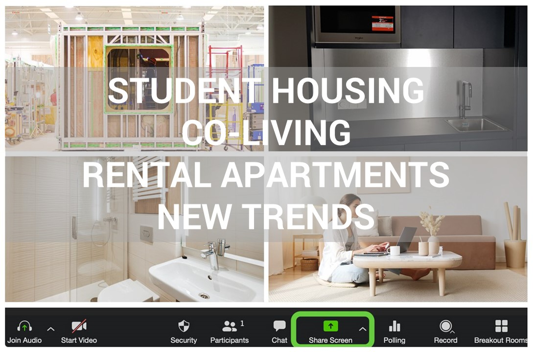 """Join our Webinar """"Insights and Trends in Modern Co-living and Rental Apartment""""!"""