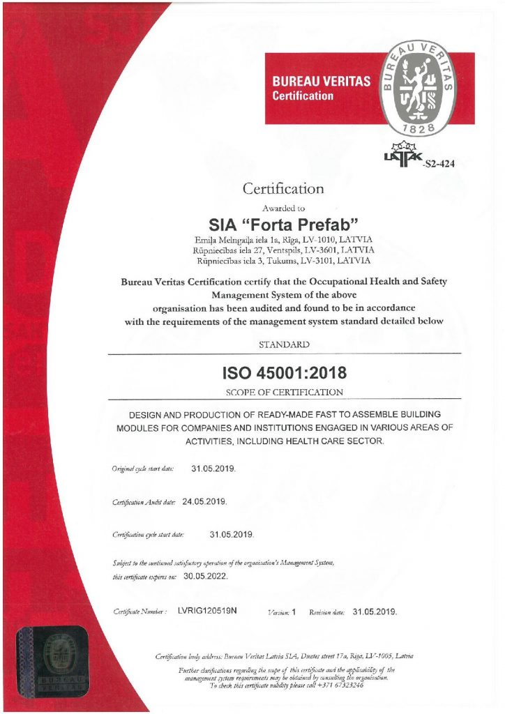 ISO 45001 H&S Certification