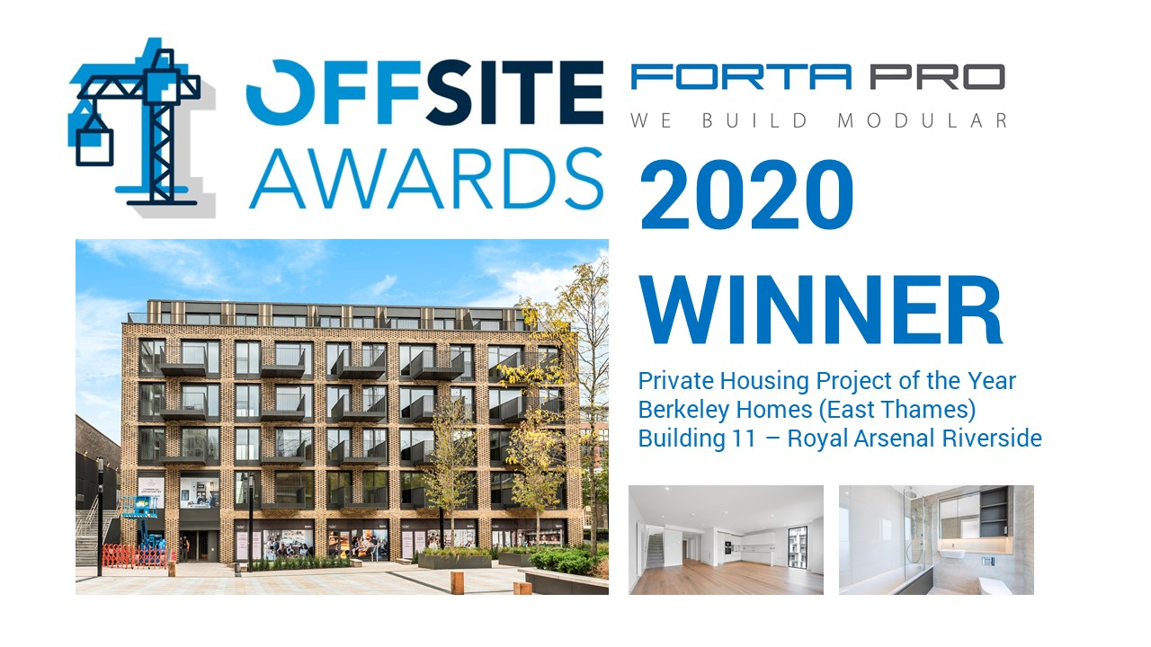 Offsite Awards 'Private Housing Project of the Year 2020'!
