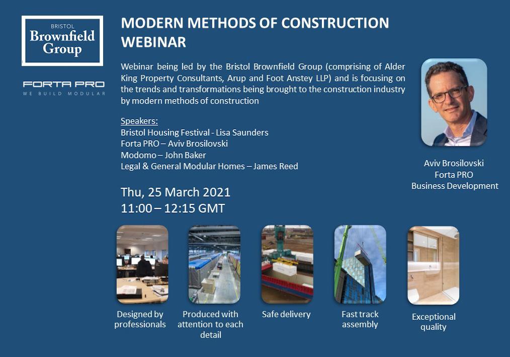 """Meet us at the """"Modern Construction Methods"""" Webinar!"""