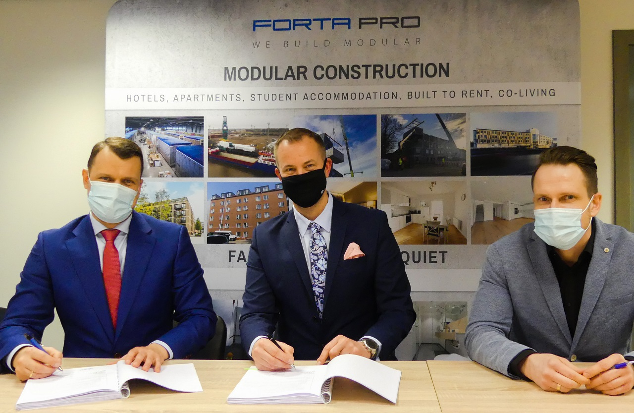 Forta PRO and Nordic Unit AB sign an agreement for the construction and delivery of modern rental apartments in Sweden!