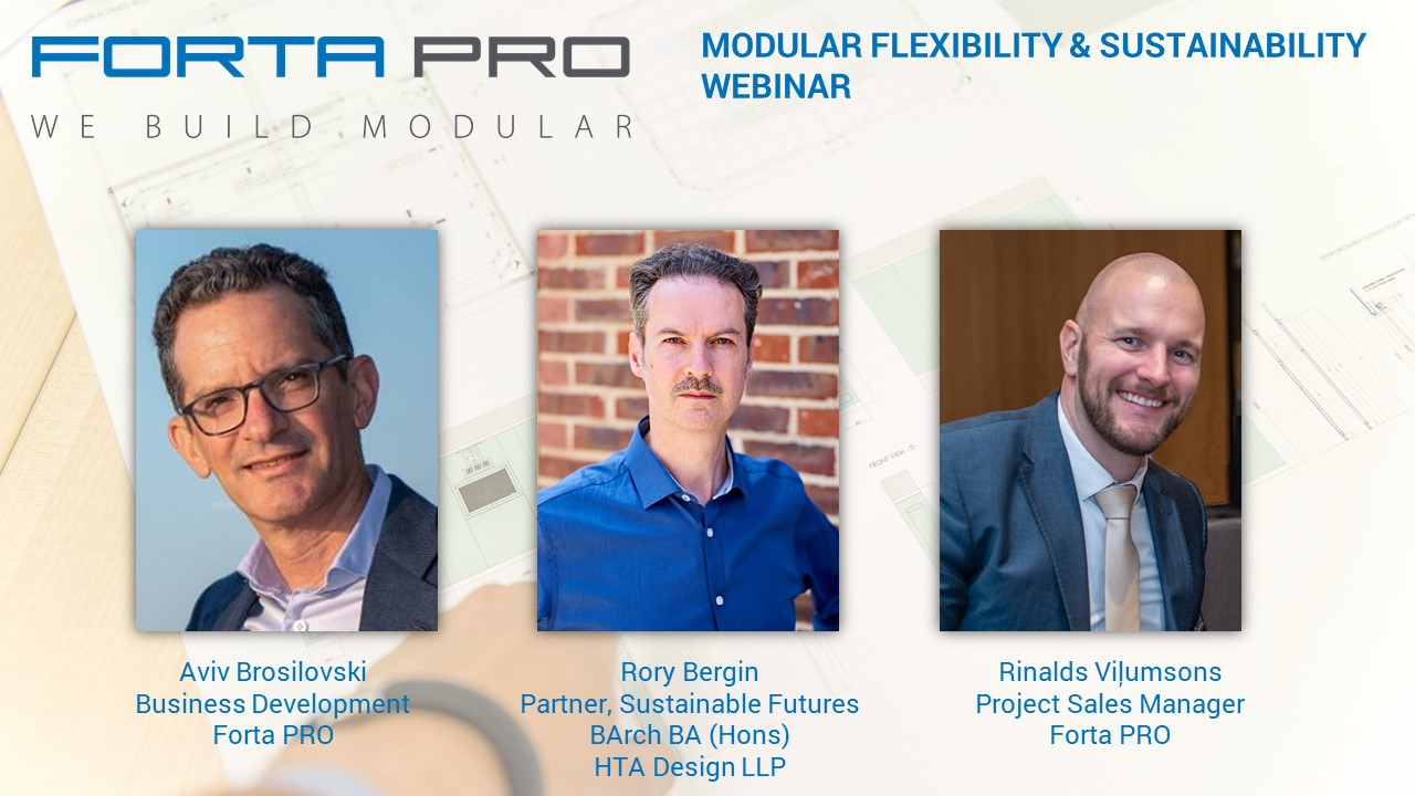 "Register to our new Webinar! ""MODULAR FLEXIBILITY & SUSTAINABILITY"""